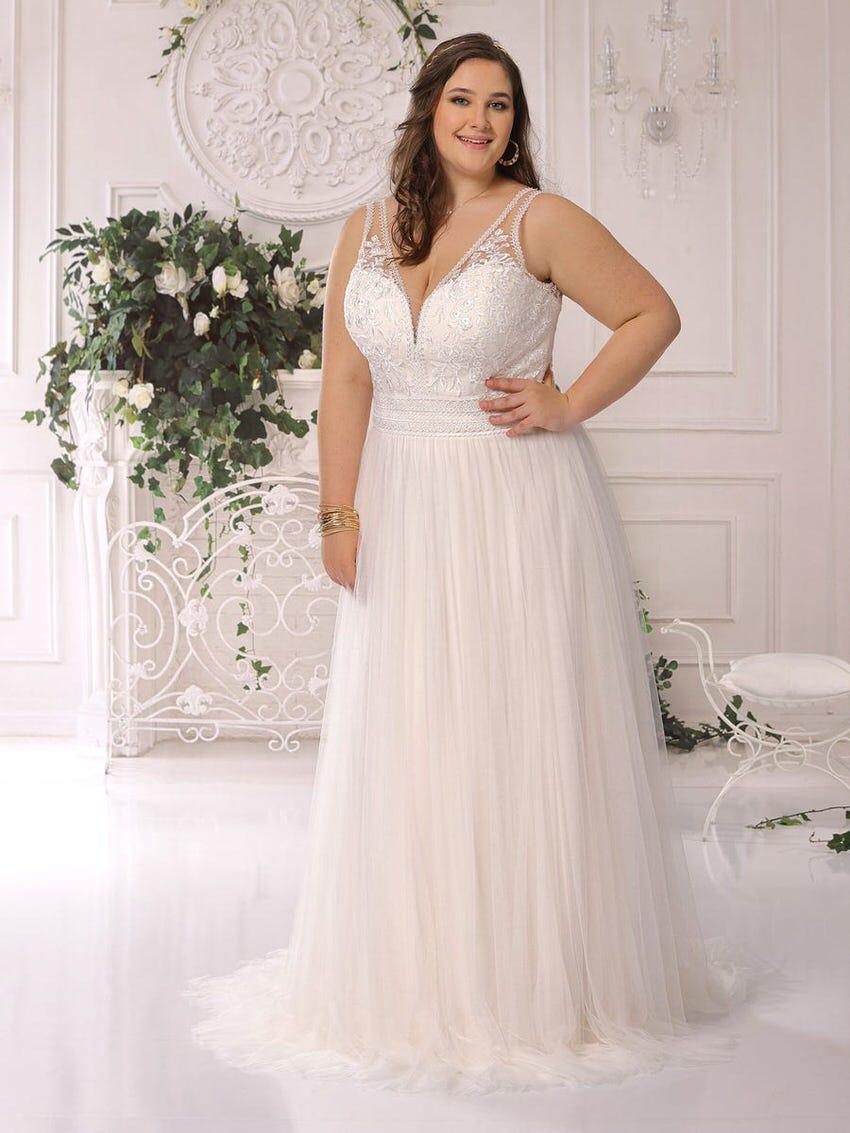 Hochzeitskleid mit Herzausschnitt – gesehen bei frauimmer-herrewig.de