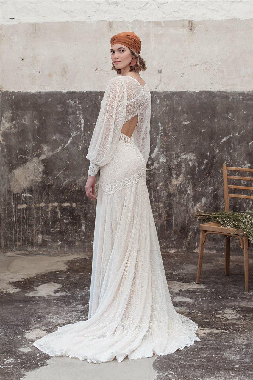 Boho Hochzeitskleid mit Cut-Outs – gesehen bei frauimmer-herrewig.de
