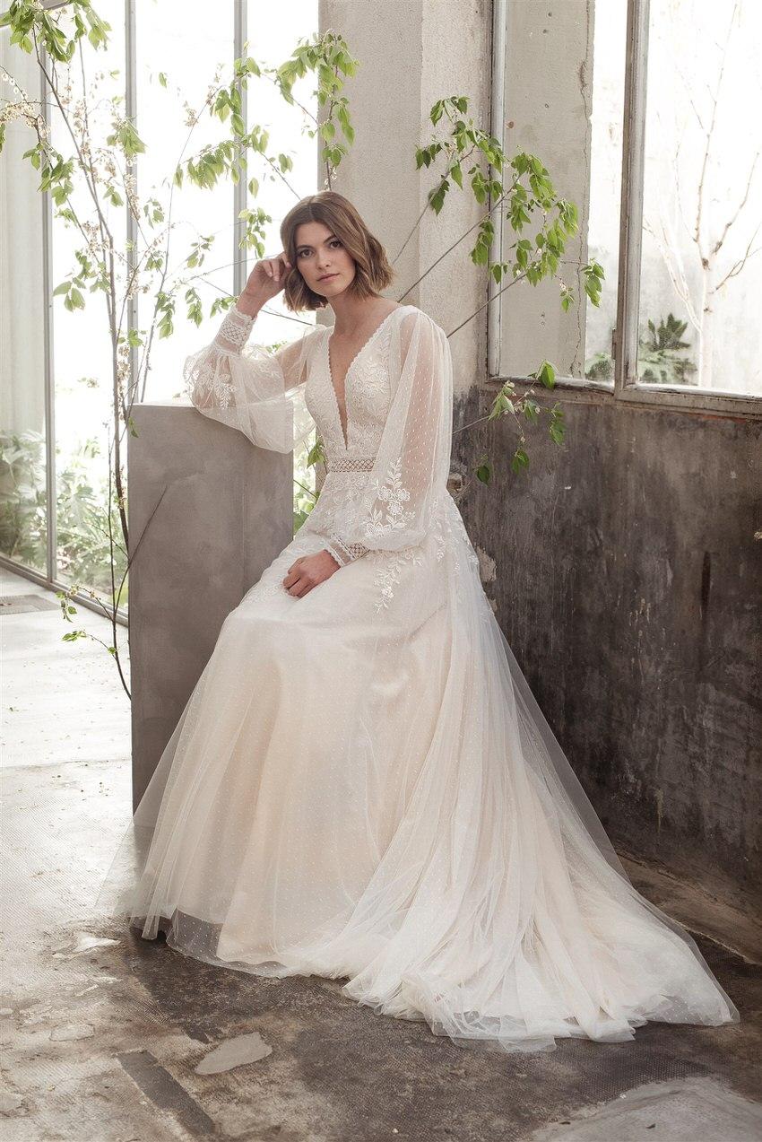 Brautkleid mit langen Ärmeln – gesehen bei frauimmer-herrewig.de