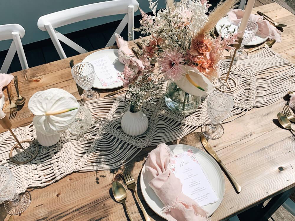 Boho Tischdeko Tiny Wedding – gesehen bei frauimmer-herrewig.de