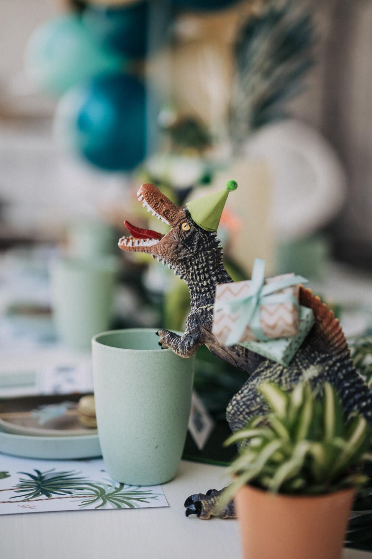 Dinosaurier Tischdeko – gesehen bei frauimmer-herrewig.de