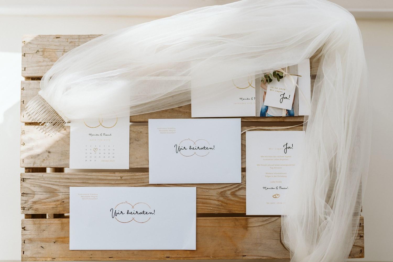 schlichte Hochzeitspapeterie und Einladungen – gesehen bei frauimmer-herrewig.de