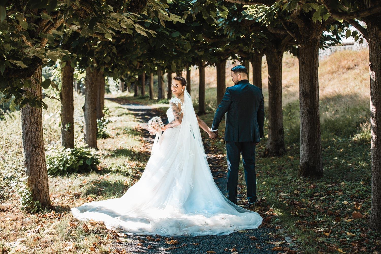 Hochzeitsfotoshooting draußen – gesehen bei frauimmer-herrewig.de