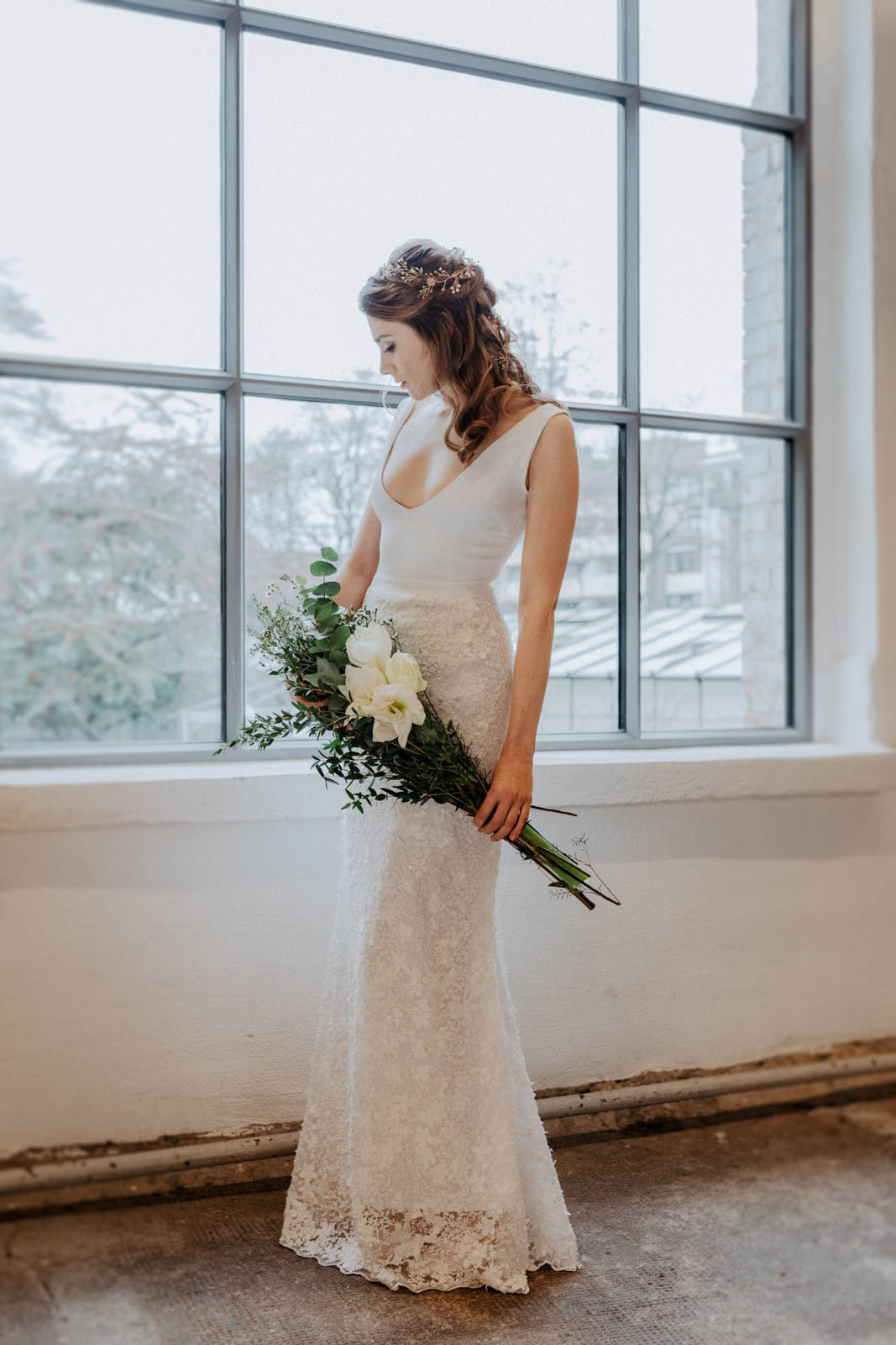 Hochzeitskleid mit Spitzenrock – gesehen bei frauimmer-herrewig.de