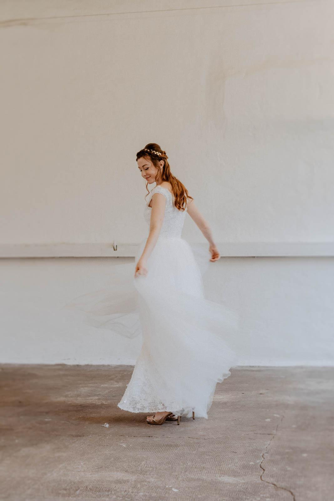 Brautkleid mit Spitzentop – gesehen bei frauimmer-herrewig.de