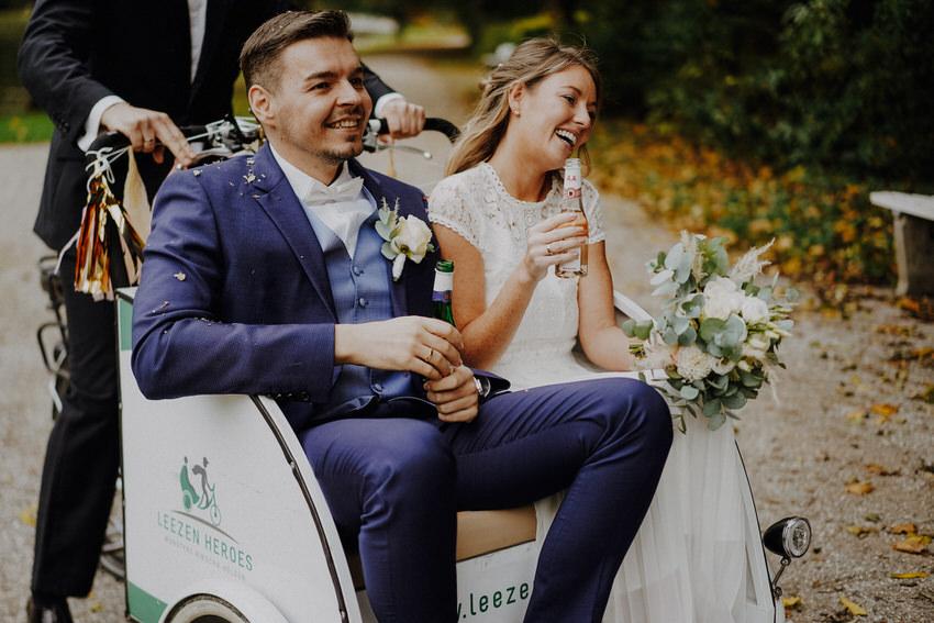 Hochzeit mit Rikscha-Fahrt – gesehen bei frauimmer-herrewig.de