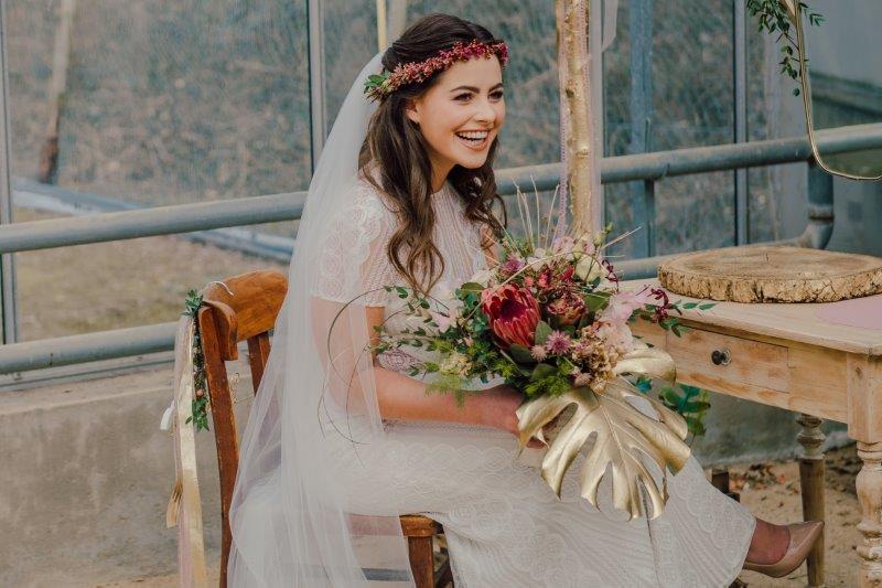 Dekoration Vintage Hochzeit Blumenschmuck Brautjungfern Flowers