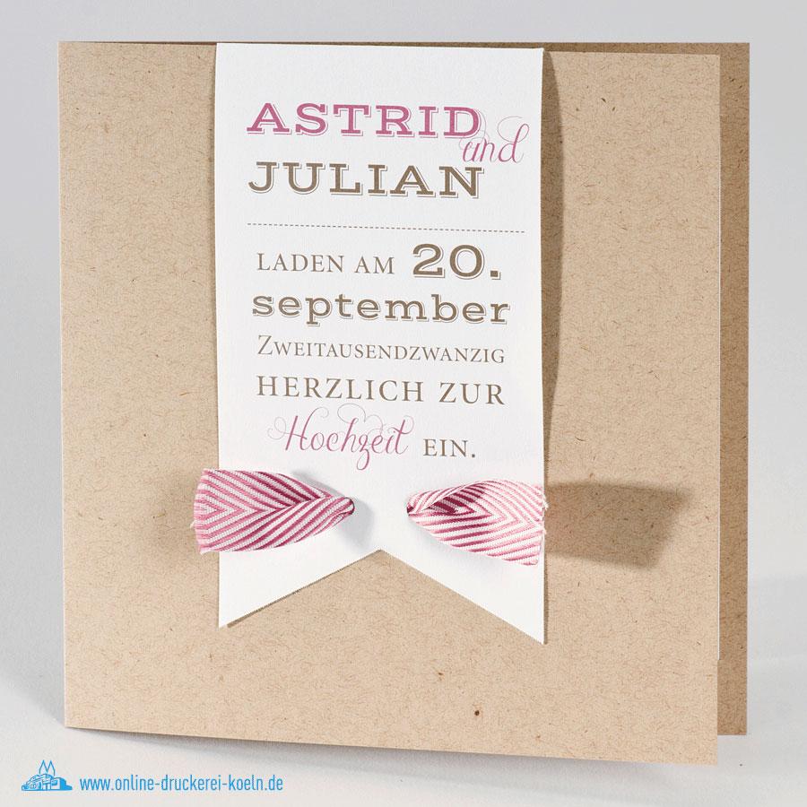 Einladungskarten Hochzeit Druckerei #16: Online Druckerei Köln