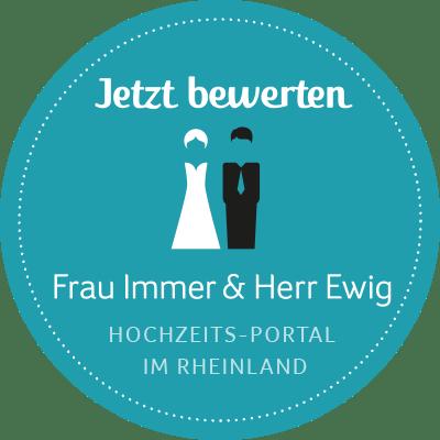 Jetzt Bewerten - Hochzeit Köln, Hochzeit Bonn, Hochzeit Düsseldorf - Frau Immer & Herr Ewig