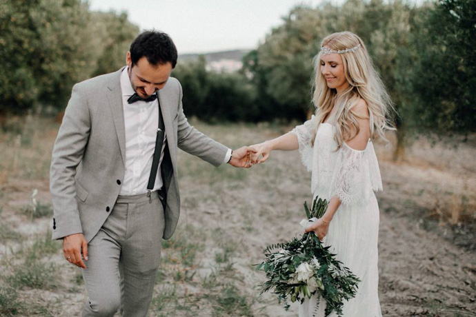 Boho Hochzeit In Griechenland Frau Immer Herr Ewig